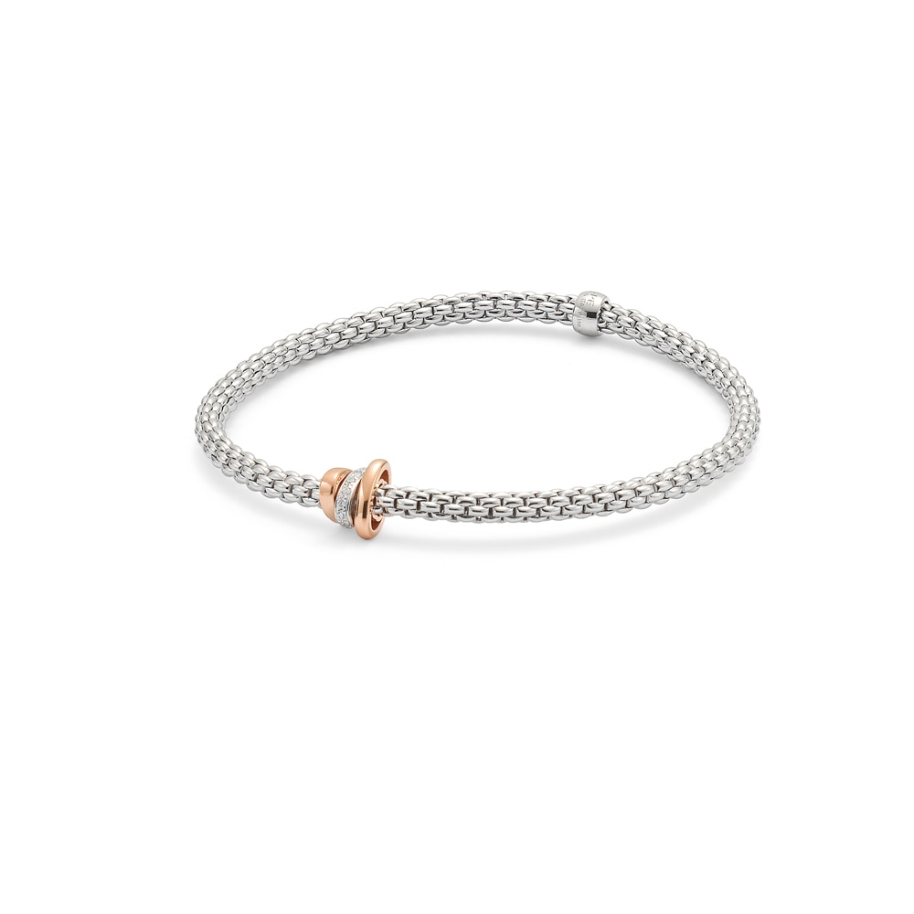 FOPE 18CT WHITE GOLD FLEX'IT PRIMA BRACELET |Mappin & Webb