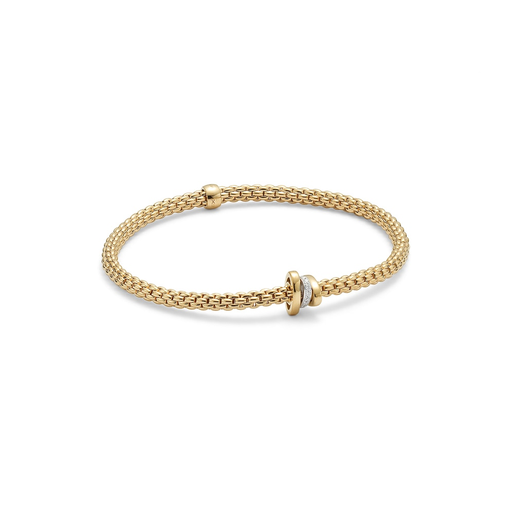 FOPE 18CT YELLOW GOLD FLEX'IT PRIMA BRACELET | Mappin & Webb