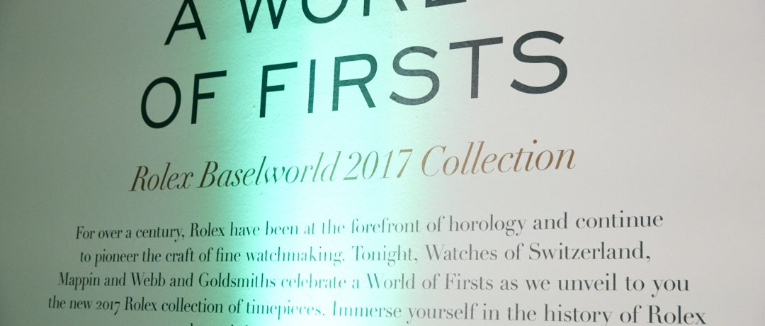 A World of Firsts